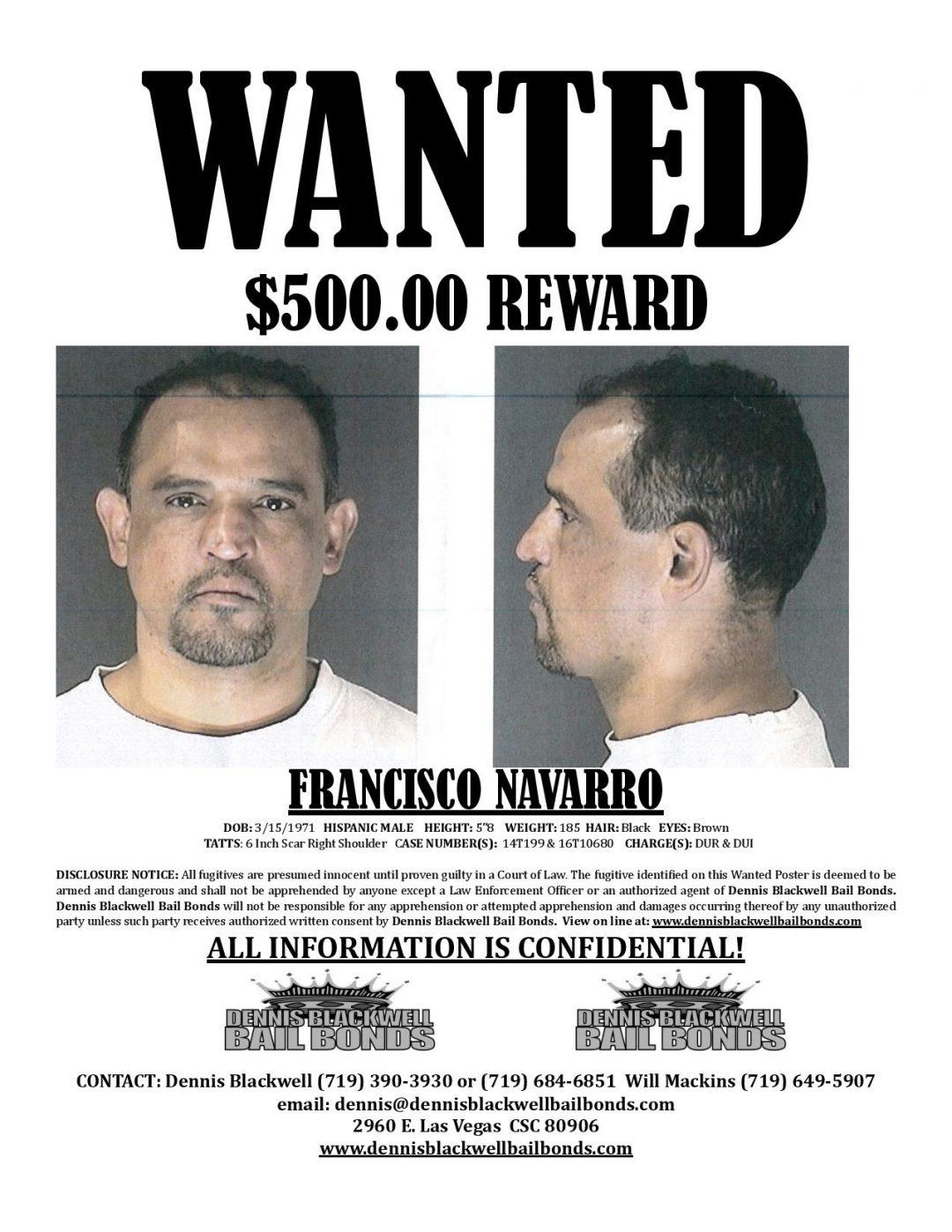 Francisco Navarro – Most Wanted Colorado