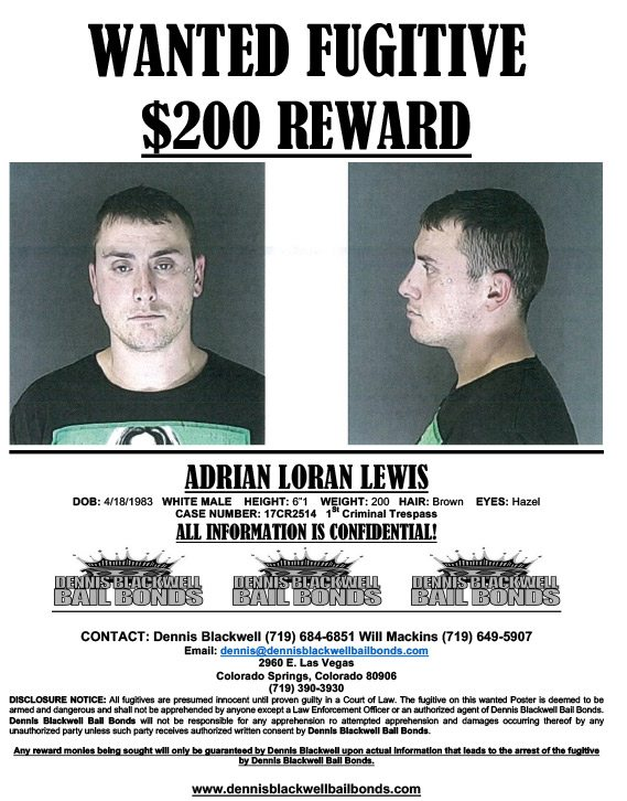 Adrian Loran Lewis – Wanted