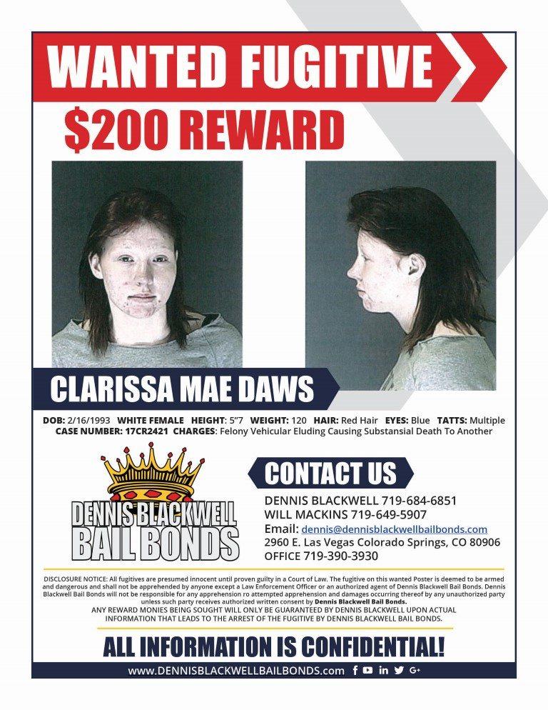CLARISSA MAE DAWS-WANTED-FUGITIVE