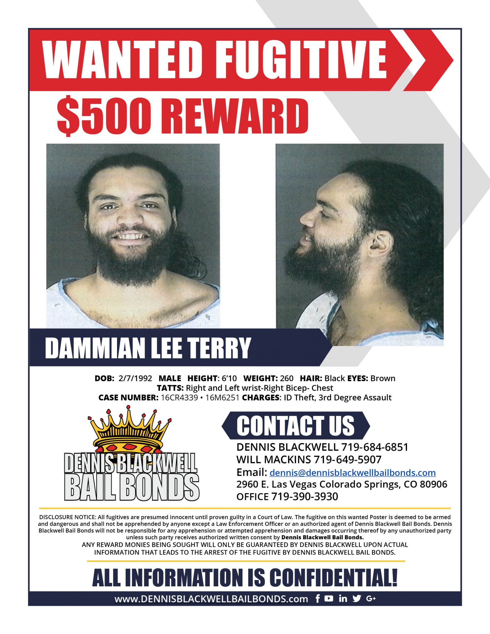 DAMMIAN LEE TERRY-WANTED-FUGITIVE